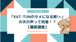 「KAT-TUNのタメになる旅!+」の天の声って何者!?【徹底調査】